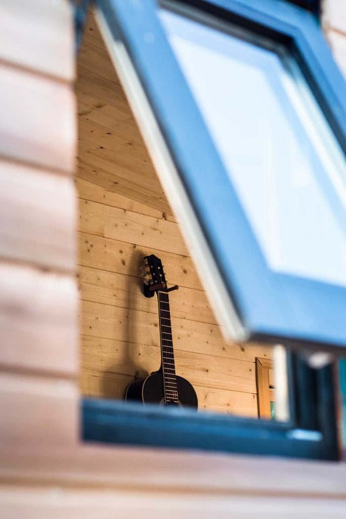 Guitare et tiny house