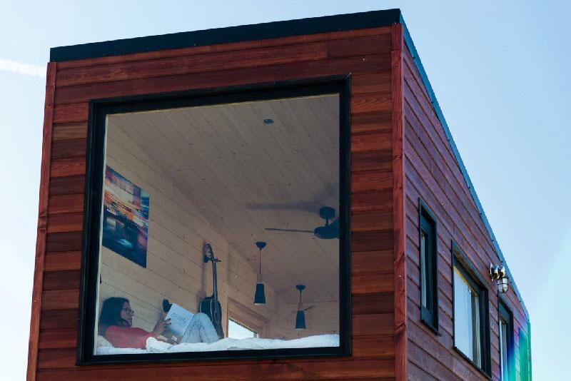 baie vitrée tiny house