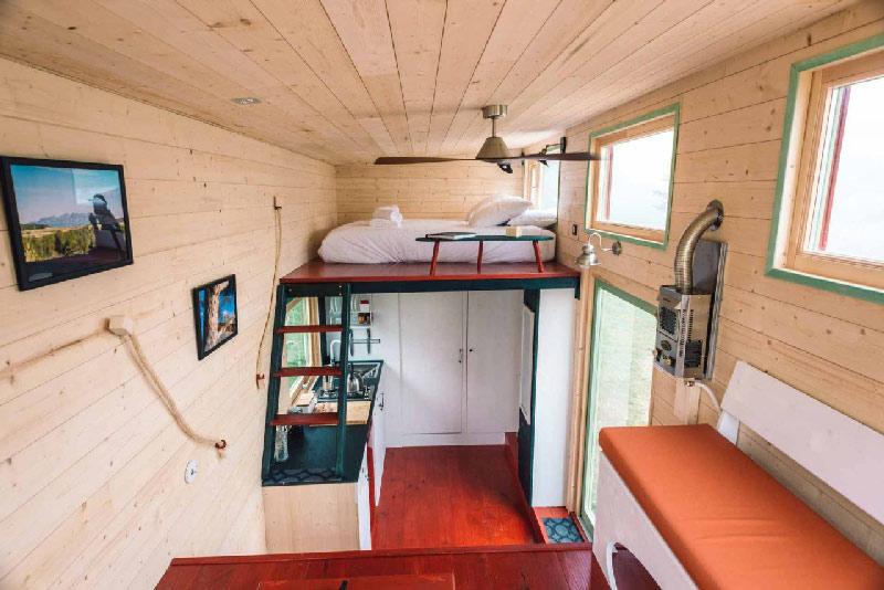 interieur en bois tiny house