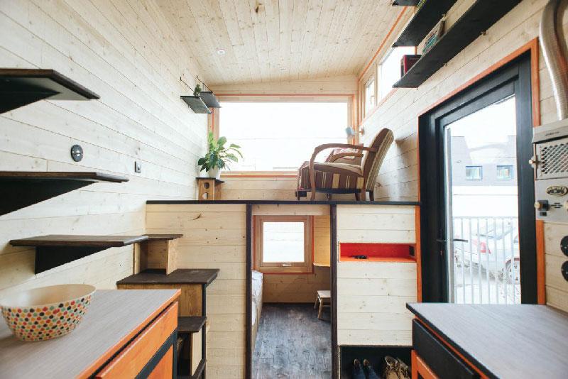 interieur de la tiny house stendhal