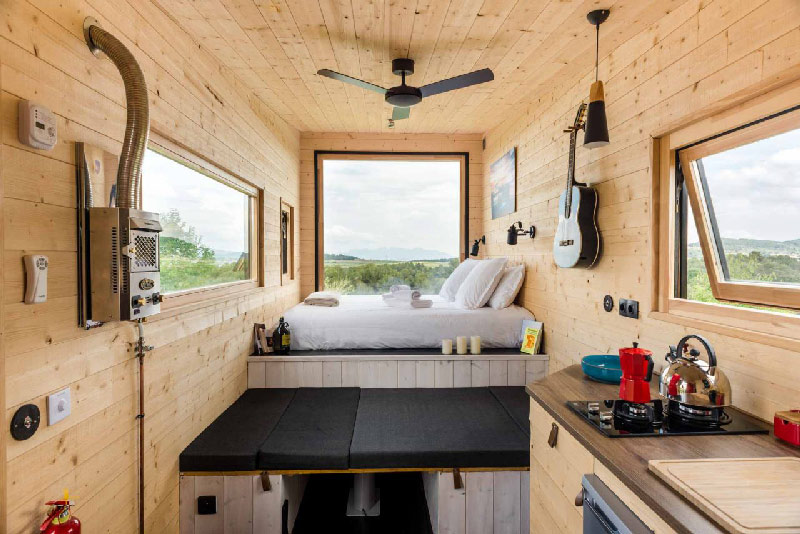 lit interieur tiny house